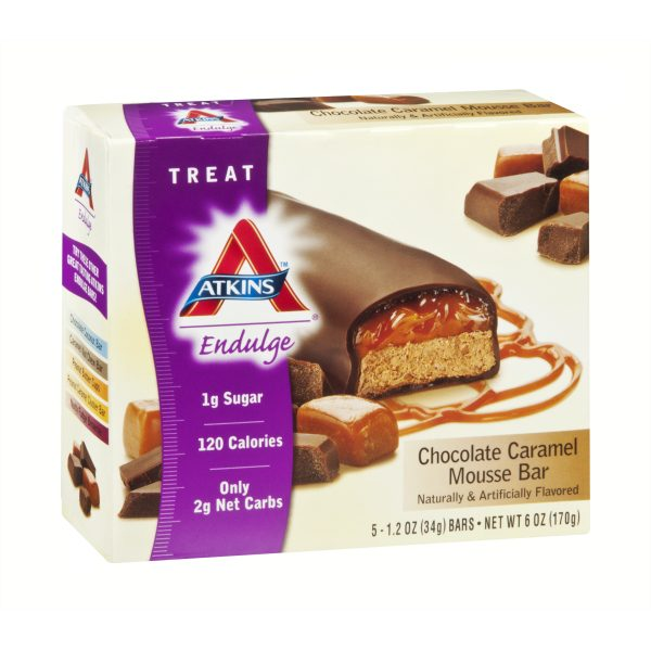 Atkins Endulge Chocolate Caramel Mousse Bar box of 5