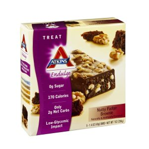 Atkins Endulge Nutty Fudge Brownie Bar Box of 5