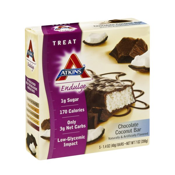 Atkins Endulge Low Carb Chocolate Coconut Bar box of 5