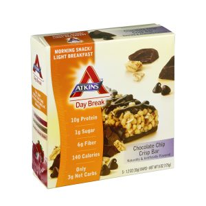 Atkins Low Carb Chocolate Chip Crisp Breakfast Bars 5 Pack