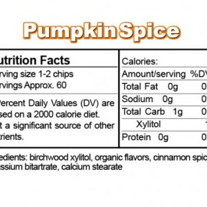 Ice Chips Sugar Free Pumpkin Spice Xylitol chips