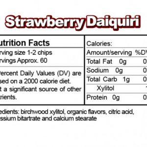 Ice Chips Sugar Free Strawberry Daquiri Xylitol chips