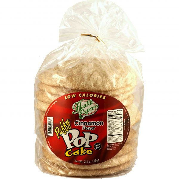 Health Express Puffy Pop Cakes Cinnamon Flavor
