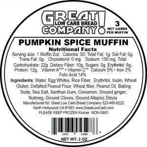 Great Low Carb Low Fat Pumpkin Spice Muffin