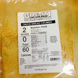 Great Low Carb Bread Crumbs Onion Flavor 4oz bag