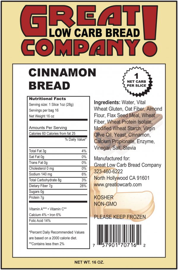 Great Low Carb Cinnamon Bread