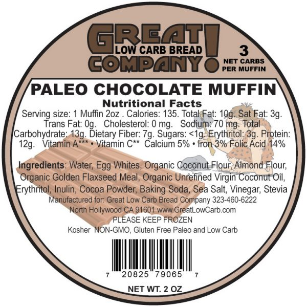 Great Low Carb Paleo Muffin Chocolate 2oz
