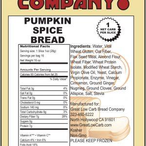 Great Low Carb Pumpkin Spice Bread