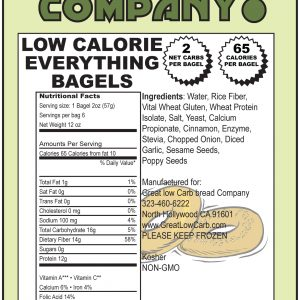 Great Low Carb Everything Bagels 65 Calorie Version