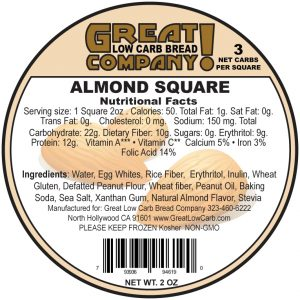 Great Low Carb Low Fat Almond Square