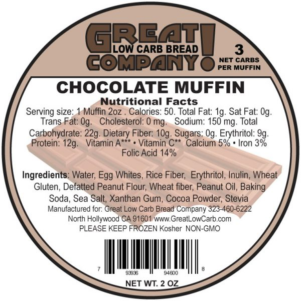 Great Low Carb Low Fat Chocolate Muffin