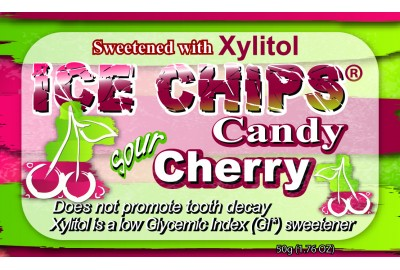 Ice Chips Sugar Free Sour Cherry Xylitol Chips