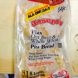 Joseph's Flax Oat Bran Whole Wheat Mini Pita bag of 8