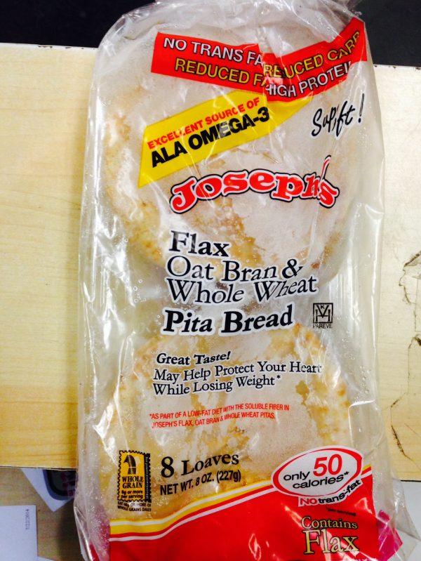 Joseph's Flax Oat Bran Whole Wheat Mini Pita bag of 8