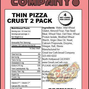 "Great Low Carb Thin Pizza Crust 7"" 2 pack"