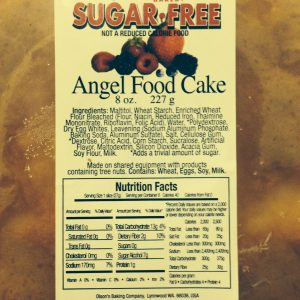 Ann Marie's Sugar Free Angel Food Cake