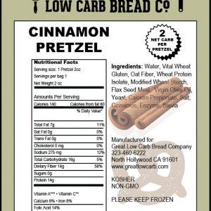 Great Low Carb Soft Pretzel Cinnamon 2oz