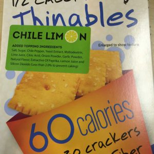 Fiber Gourmet Chile Limon Thinables Snack Crackers 6oz
