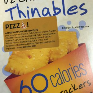 Fiber Gourmet Pizza Thinables Snack Crackers 6oz