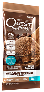 Quest Low Carb Chocolate Milkshake Single single Packet