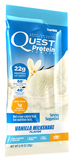Quest Low Carb Vanilla Milkshake powder Single Packet