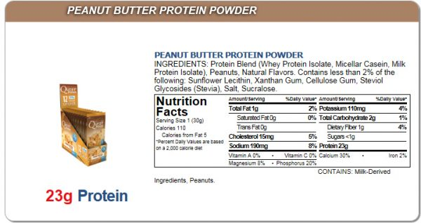 Quest Low Carb Peanut Butter Shake Mix Single Packet