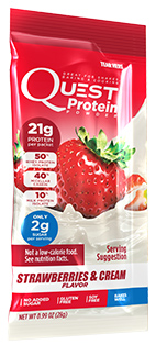 Quest Strawberries & Cream Shake Mix Single Packet