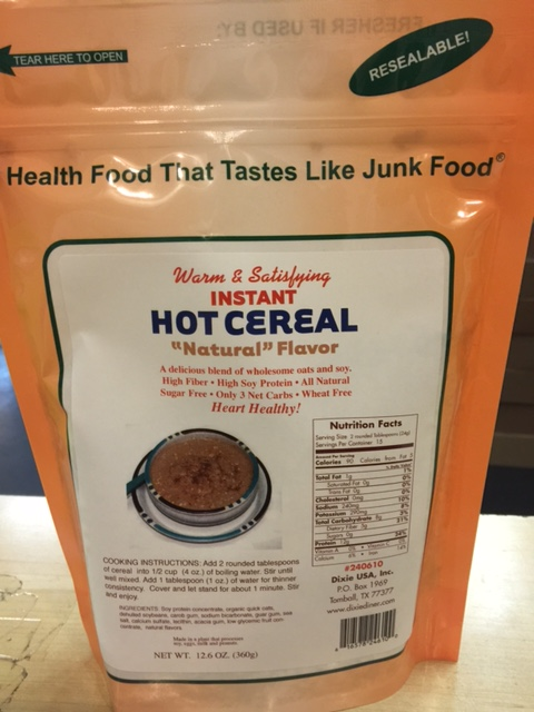 Dixie Diner Low Carb Hot Cereal Natural 15 serving bag
