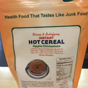 Dixie Diner Low Carb Hot Cereal Apple Cinnamon 15 serving bag