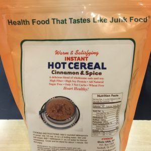 Dixie Diner Low Carb Hot Cereal Cinnamon Spice 15 serving bag
