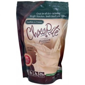 ChocoRite Protein Shake Mix Cookies and Cream 14.7 oz bag
