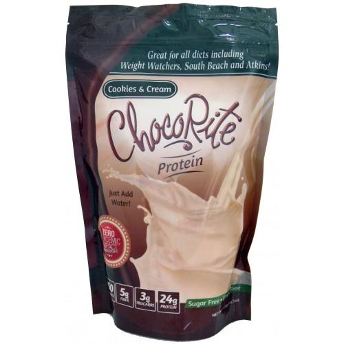 Chocorite Protein Shake Mix Cookies And Cream 14 7 Oz Bag