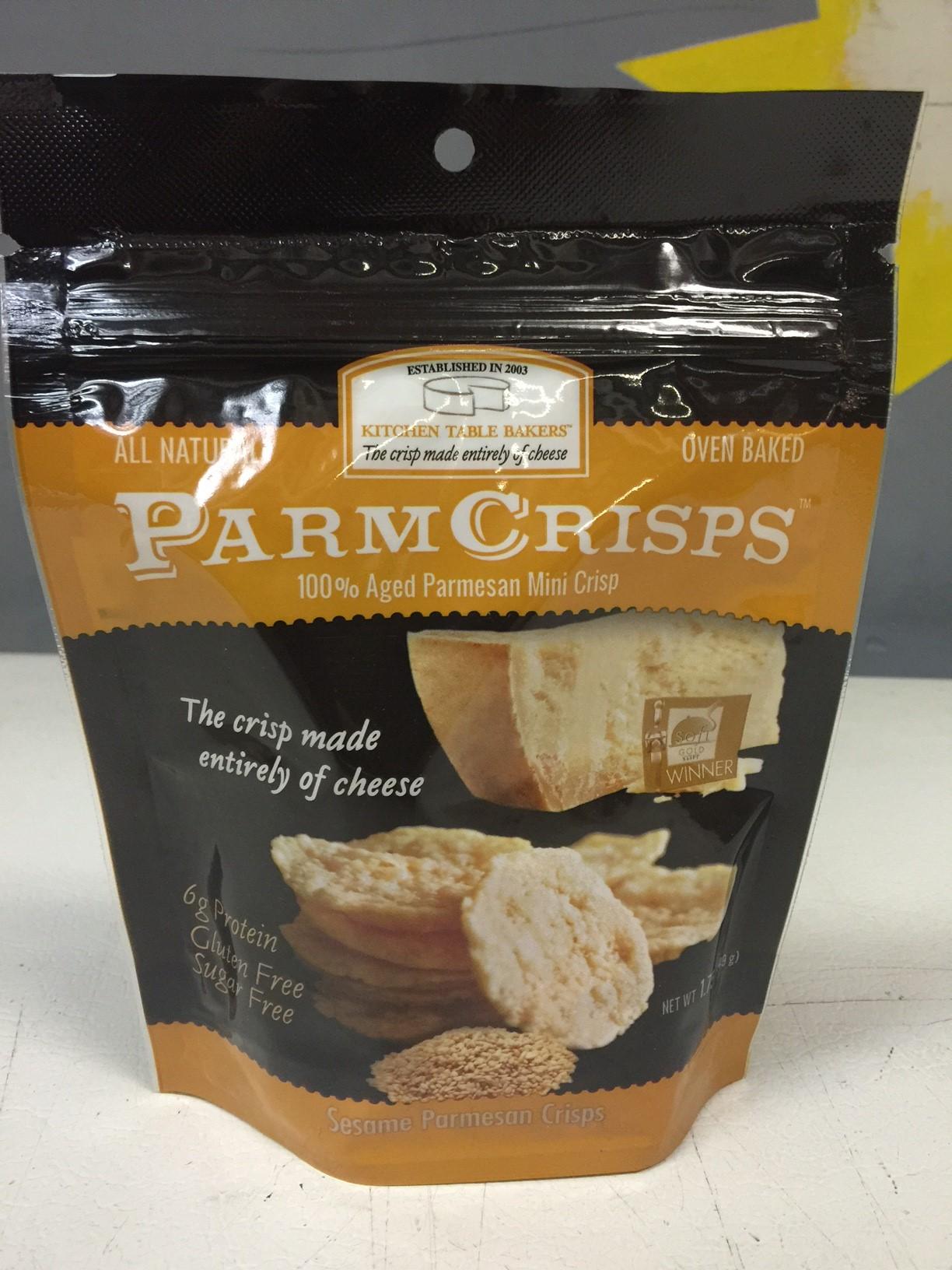 Parm Crisps/Kitchen Table Bakers Sesame Mini Crisps