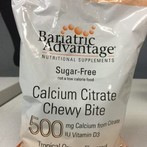 Bariatric Advantage 500mg Calcium Citrate Tropical Orange 90 chews