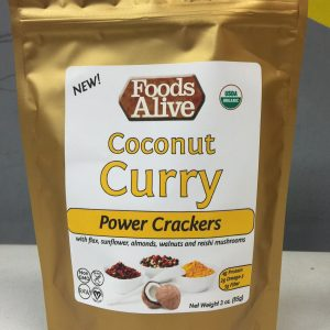Foods Alive Coconut Curry Power Crackers 3oz
